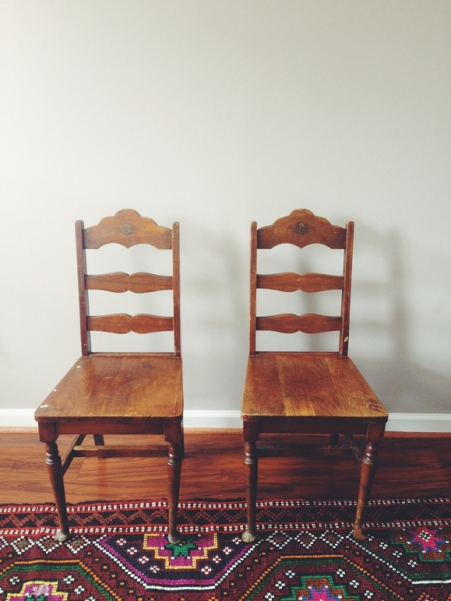 thrifted chairs